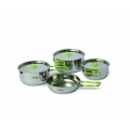 SET DE VASE INOX PINGUIN TRIO STEEL S